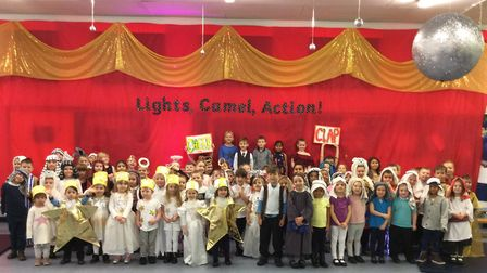 Grove House Infant and Nursery School's nativity 'Lights, Camel, Action'. Picture: Grove House Infan