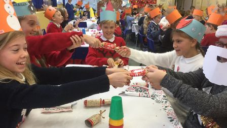 Christmas celebrations at North Elmham Primary School. Picture: North Elmham Primary School