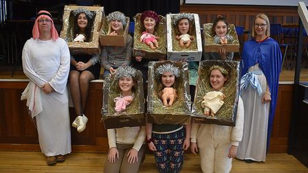 Senior School pupils at Norwich High School for Girls dressed up for their Christmas lunch. Picture: