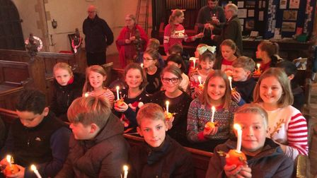Children from Old Buckenham Primary School and Nursery attended a Christingle Service at All Saints