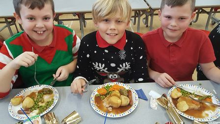 Red Oak Primary School's Christmas lunch. Picture: Red Oak Primary School