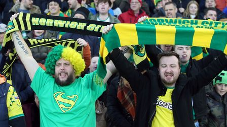 Carrow Road was a sea of yellow and green Picture: Paul Chesterton/Focus Images Ltd
