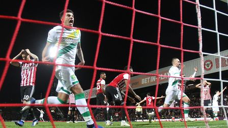 Ben Godfrey celebrates Norwich City's equaliser at Brentford in trademark style - after another impr