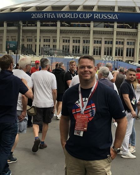 Andrew Howell, from Gayton, visited 75 different football grounds this year, including a visit to th