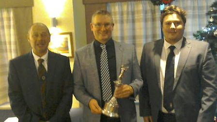 Mark Spooner, right, who finished third in the Norfolk PGA Order of Merit, pictured with champion Ja
