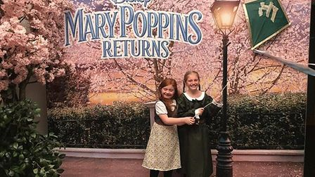 Great Yarmouth sisters Pepper and Daisy Self interviewed Mary Poppins stars Emily Blunt and Lin-Manu
