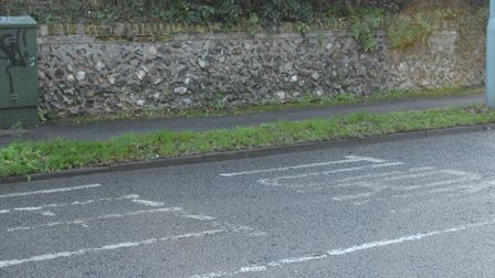 Have you been affected by worn road markings in Norwich? Photo: Paul Hewitt