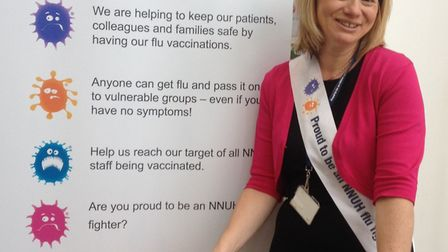 Hilary Winch, NNUH head of workplace health, safety and wellbeing. Photo: NNUH