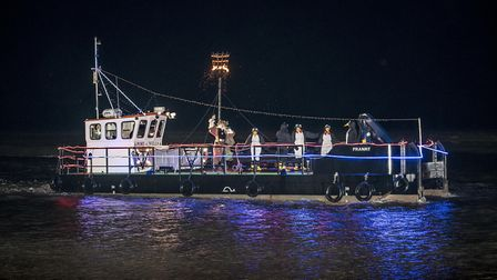 Scenes from Well Christmas Tide as Father Christmas arrives at the quay. Picture: Matthew Usher.