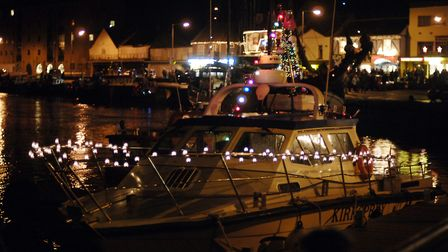 CAPTION; Photos from Wells Christmas Tide event 2005. Pic shows the harbour with their christmas.PHO