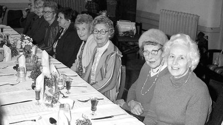 Wells Day Centre Christmas dinner, 19th December 1979. Photo: Archant Library