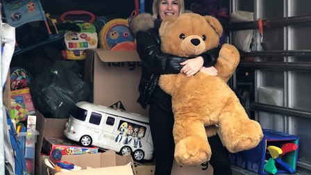 Kelly Mendham from Hethersett has been collecting donations of toys and food to hand out to families