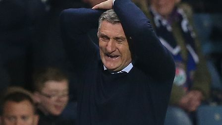 Blackburn Rovers Manager Tony Mowbray reacts during the Sky Bet Championship match at Ewood Park, Bl