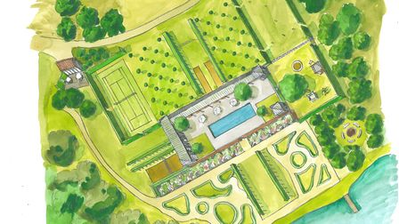 An artist's impression of how part of Fritton Lake Resort could look following a multi-million pound