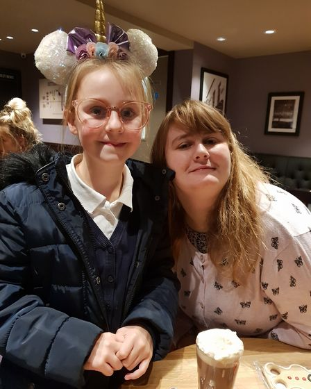Amy Thorogate, 10, with her sister Hannah, 22. Amy has special educational needs and her mother want