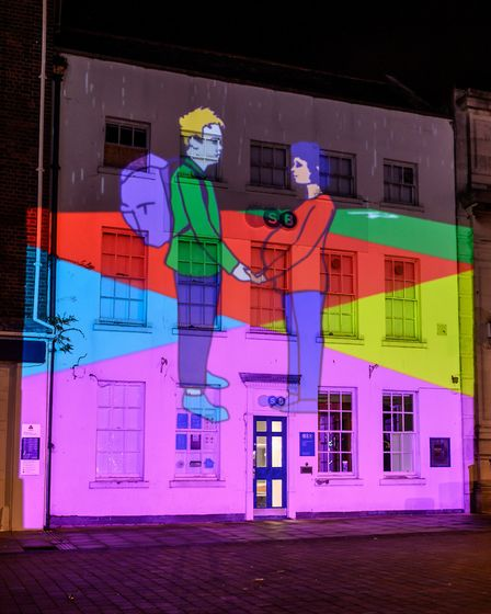 The game was launched at the Christmas switch-on Picture: Matthew Usher
