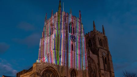 King's Lynn Minster is lit up for Reveal Picture: Matthew Usher