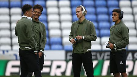 Norwich City's young guns, Jamal Lewis, Max Aarons, Ben Godfrey and Todd Cantwell Picture: Paul Ches
