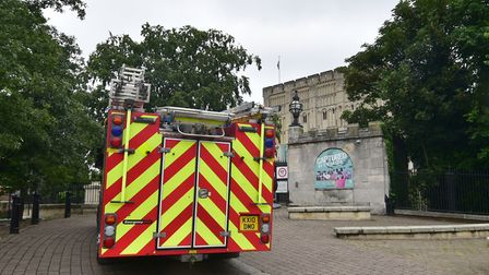 In June 2016, Norwich Castle had to be evacuated after a fire alarm went off. It was found to be a f