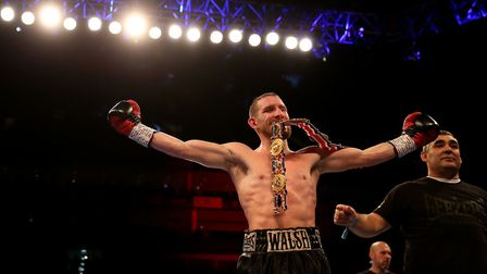 And still! Ryan Walsh enjoys the sweet taste of success after retaining his British featherweight ti