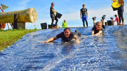 You will be jumping, crawling and climbing up obstacles over a 6km loop Credit: SPLAT QUACK GO