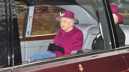The Queen attended church at Sandringham on Sunday Picture: Joe Giddens/PA Wire
