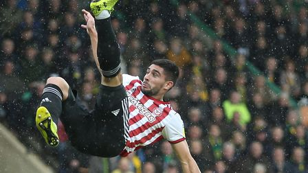 Neal Maupay in action during Brentford's 1-0 loss at Norwich in October Picture: Paul Chesterton/Foc