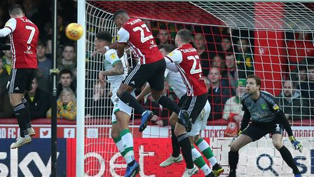 Tim Krul couldn't keep out Julian Jeanvier's goal for Brentford but made two fine saves to help City
