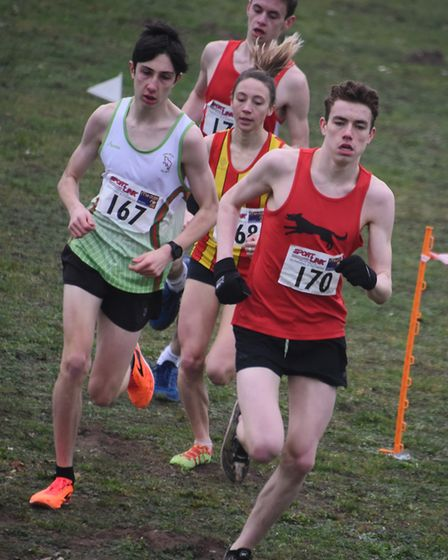 Competitors in the U17 girls and boys, U20 women, senior women and masters women race in the Norfolk