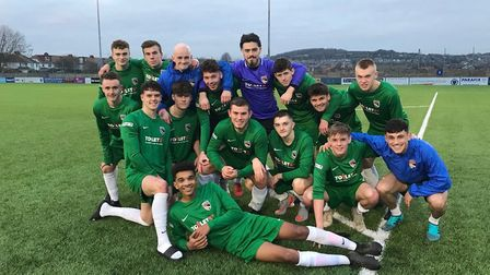 Norfolk Under 18s after their victory against Sussex. Picture: Norfolk FA