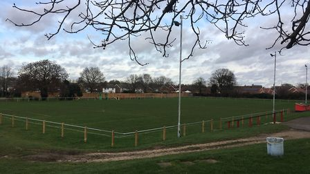 King's Head Meadow, the home ground of Wymondham Town Football Club, where the air ambulance landed