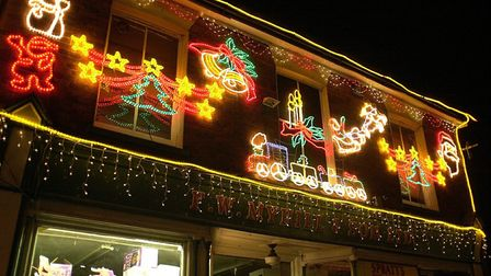 Some of the festive lights on display around Dereham town centre for the annual switch on of the Chr