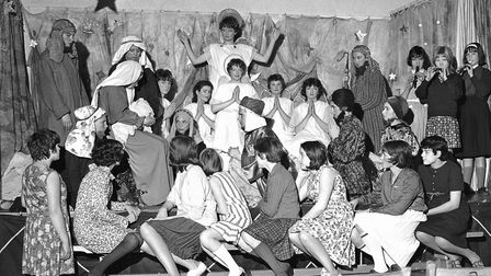 """CHRISTMAS DEREHAM SCHOOL NATIVITY DATED 1965 Audrey Taylor, of Toftwood wrote to Let's Talk: """"The s"""