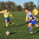 Action from Riverside Rovers' win over Acle Rangers. Picture: Steve Brown