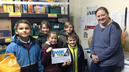 Pupils at Hillcrest Primary School in Downham Market have donated more than 2,500 items to the town'