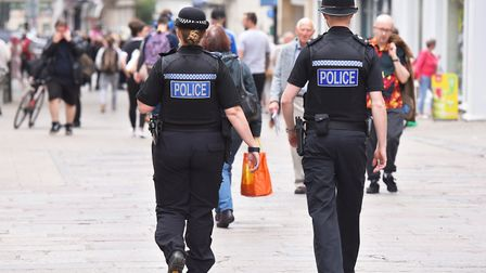 More Police officers are set to be patrolling Norwich city centre. Picture: Nick Butcher