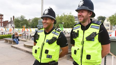 More Police officers are set to be patrolling Norwich city centre. Officers Dave Block and Michael J