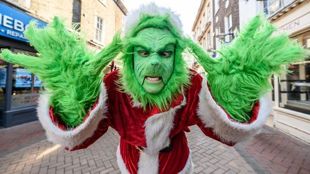 The Grinch's grumpy attitude to Christmas is well-known - we don't want to share it! Pictured here i