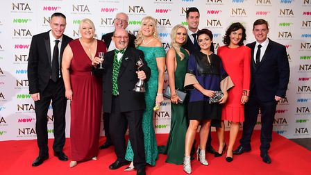 Mrs Brown's Boys cast are seen here after winning a National Television Award, but are their special