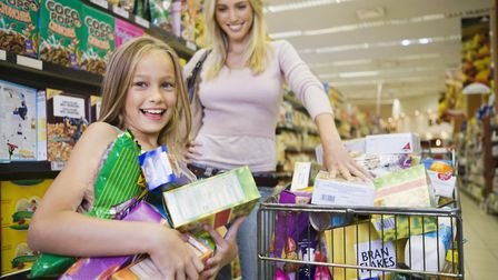 Some families pile the trolley high at Christmas, even though most shops are only shut for one day P