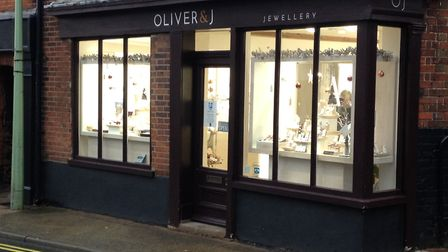 The terrifying ordeal at Oliver and J Jewellery in Blyburgate, Beccles comes just weeks after the to