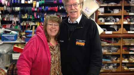 Sue and Steve Taylor, who own Sewing and Handicraft on Blyburgate, had a traffic cone hurled their f