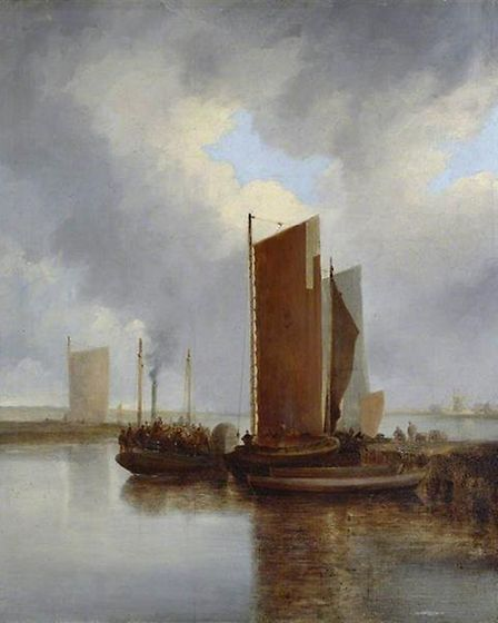 The steam packet painted by John (old) Crome. 1817WARNING: Copyright Manchester Art Gallery permissi
