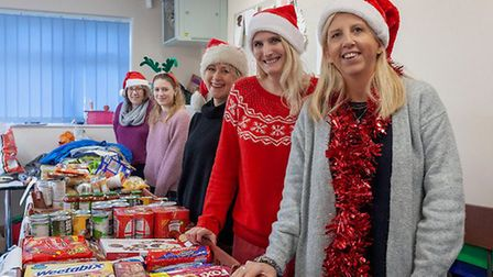 Lisa and her daughter Caitlin Williams, Mel Howman, Lynda Groves and Claire Read at Avenues Junior S