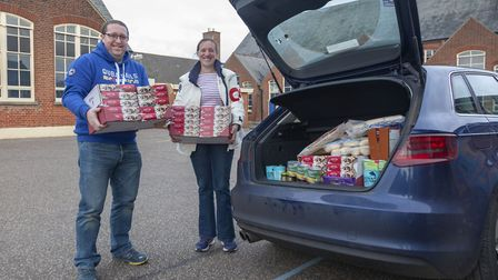 Donations large and small - whole car load gratefully received. Picture: Nick Stone