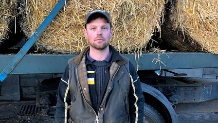 Alex Beard, who lost £40,000 worth of straw in an arson attack. Picture: Alex Beard