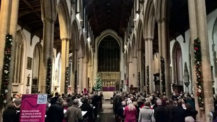 Alzheimer's Society Carols at Christmas in St Peter Mancroft Church, Norwich. Picture: Alzheimer's S