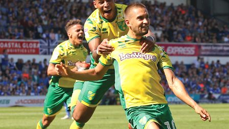 Moritz Leitner preserved Norwich's unbeaten run in the East Anglian derby earlier this season at Por