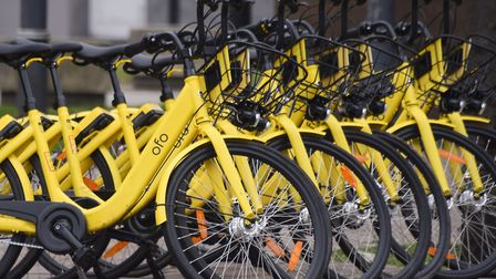 There were 180 incidents reported to police relating to Ofo bikes in Norwich before they were taken