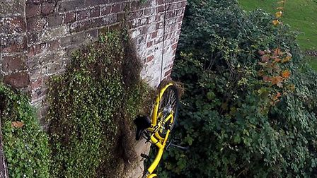 An Ofo bike being pulled out of the river in Norwich. Picture: Nigel Brocks